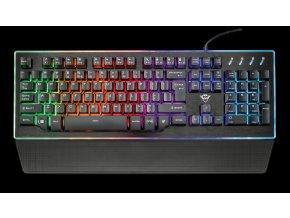 kláv. TRUST GXT 860 Thura Semi-mechanical Keyboard CZ/SK