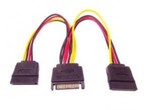 PremiumCord Napájecí rozdvojka k HDD SATA - 2x SATA