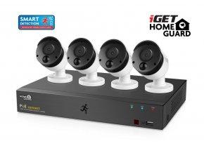 iGET HGNVK85304 - Kamerový PoE FullHD set, 8CH NVR + 4x IP 1080p kamera, SMART detekce, W/M/Andr/iOS