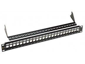 """19"""" Neosazený univerzální panel Solarix 24 portů"""