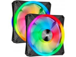 CORSAIR QL140 iCUE RGB 2-pack