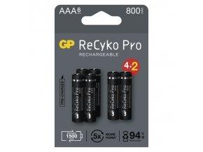GP nabíjecí baterie ReCyko Pro AAA (HR03) 4 + 2 PP