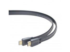 Gembird plochý kabel HDMI-HDMI 2.0,zlac., 1m