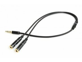 GEMBIRD 3,5 mm jack audio+microphone redukce, 20 cm, 2xF/M, 4pin