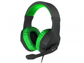 Herní stereo sluchátka Genesis Argon 200,černo-zelené