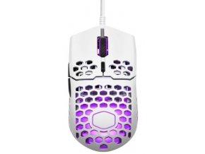 COOLER MASTER herní myš LightMouse MM711, 400-16000DPI, RGB podsvícení, matně bílá