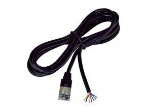 Univerzální kabel bez konektoru pro výrobu k pokladním zásuvkám, černý
