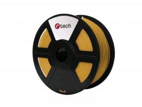 Tisková struna (filament) C-TECH, PLA, 1,75mm, 1kg, zlatá