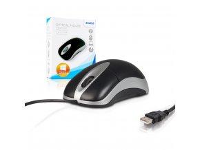 4World Myš optická USB 1200dpi Black/Silver
