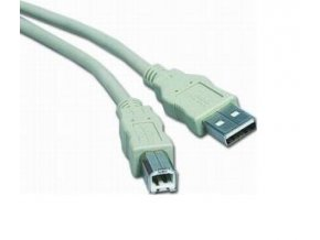 PremiumCord Kabel USB 2.0, A-B, 3m, šedý
