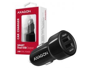 AXAGON PWC-5V5, SMART nabíječka do auta, 2x port 5V-2.4A + 2.4A, 24W