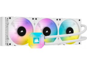 CORSAIR iCUE H150i ELITE CAPELLIX RGB 360mm vodní chlazení, bílá