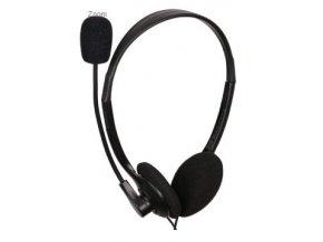 Gembird sluchátka MHS-123, s mikrofonem, černá