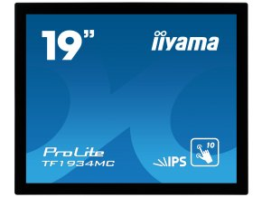 """19"""" iiyama TF1934MC-B7X: IPS, 1280x1024, capacitive, 10P, 350cd/m2, VGA, DP, HDMI, IP65, černý"""