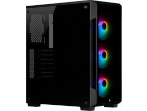 CORSAIR iCUE 220T RGB TG mid-tower, černá