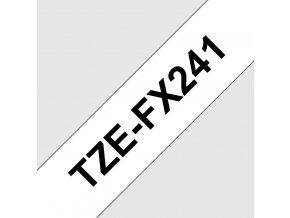 TZE-FX241, bílá / černá, 18 mm