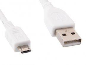 GEMBIRD kabel microUSB - USB, 1m, bílý