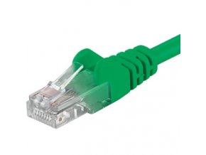 Patch kabel UTP RJ45-RJ45 level 5e 0.25m, zelená