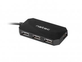 Natec Locust rozbočovač 4x USB 2.0 HUB, černý