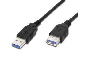 Premiumcord USB A-A 3m USB 3.0 prodlužovací, černý
