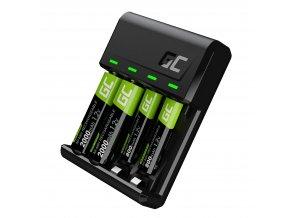 75968 sada nabijecka baterii aa aaa s microusb usb c 2x baterie aaa 800mah a 2x baterie aa 2000maha