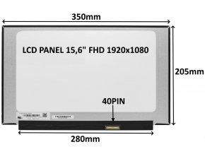 LCD PANEL 15,6 FHD 1920x1080 40PIN MATNÝ IPS 144HZ / BEZ ÚCHYTŮ
