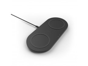 BELKIN Qi dualní podložka, 2x10W s adaptérem, černá