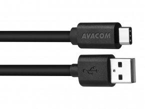 AVACOM datový a nabíjecí kabel USB - USB Type-C, 100cm, černá