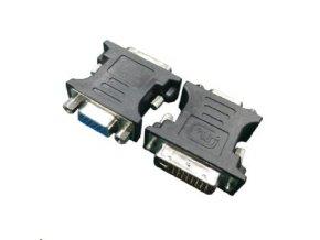 Kab. redukce DVI-A do VGA M/F, černá
