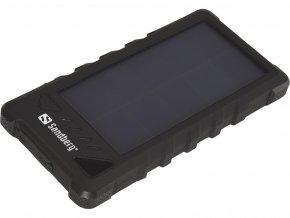 Sandberg přenosný zdroj USB 16000 mAh, Outdoor Solar powerbank, pro chytré telefony, černý