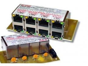 4portový napájecí panel 100Mbit, 30V, 1,1A