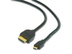 Kabel HDMI-HDMI micro 1,8m, 1.3, M/M stíněný,zl.,č