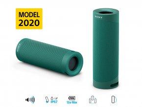 Sony bezdr. reproduktor SRS-XB23 zelená