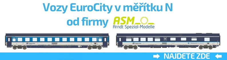 vozy ČD od firmy ASM v N