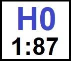 Velikost H0 / lokomotivy 1:87