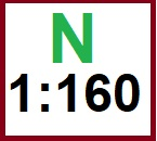 velikost N / lokomotivy 1:160