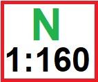 velikost N 1:160