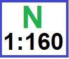 N  1:160