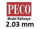 PECO N Code 80 výška 2,03mm