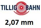 TILLIG bez podloží 2,07 mm H0
