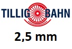 TILLIG bez podloží 2,5 mm H0