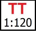 Velikost TT / lokomotivy 1:120