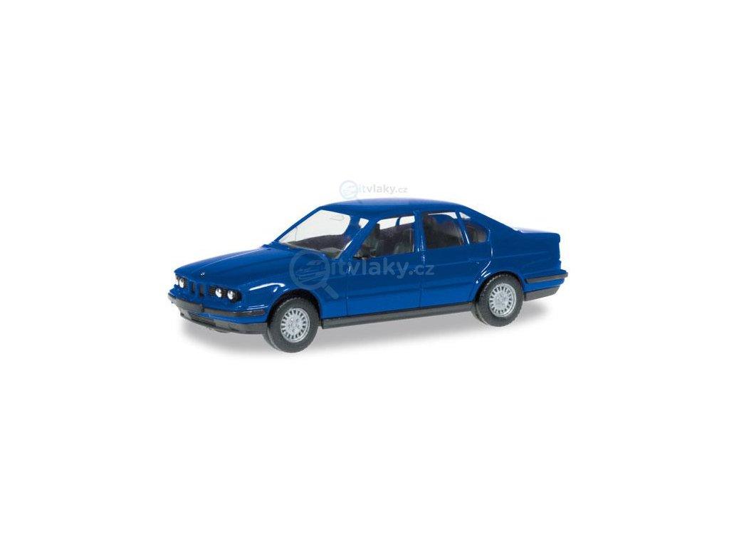 H0 - MiniKit: BMW 5 E 34, modré / Herpa 012201