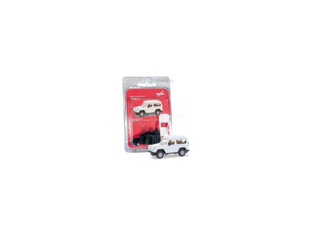 H0 - MiniKit: Mercedes-Benz G-Modell, bílé / Herpa 012645