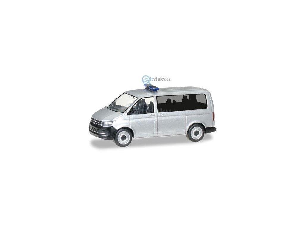 230578 h0 minikit vw t6 bus silver metallic herpa 012911
