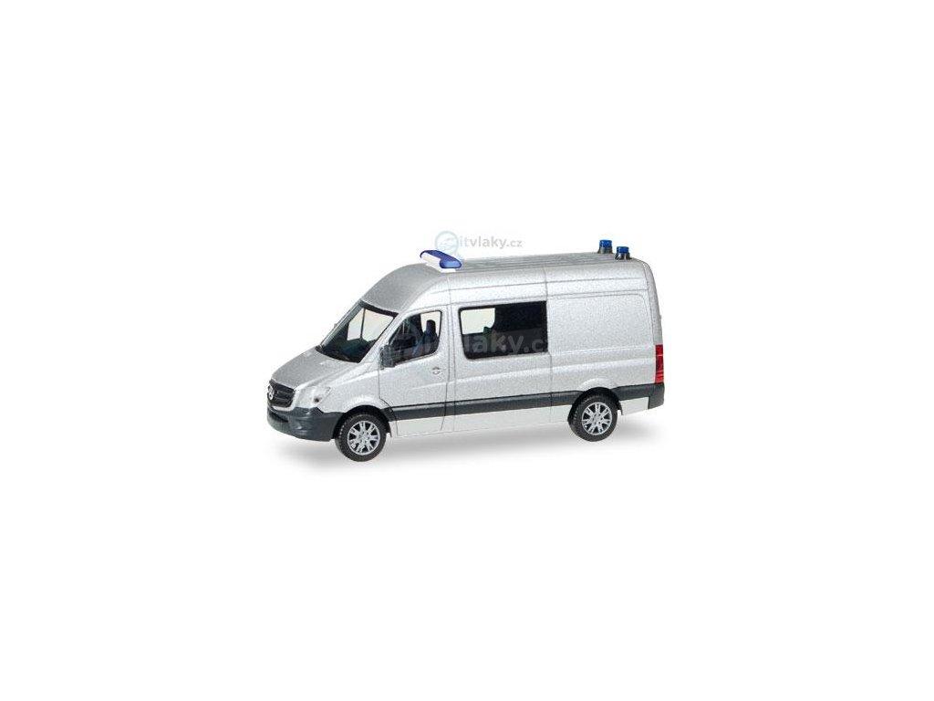 H0 - Minikit Mercedes-Benz, stříbrné / Herpa 012959