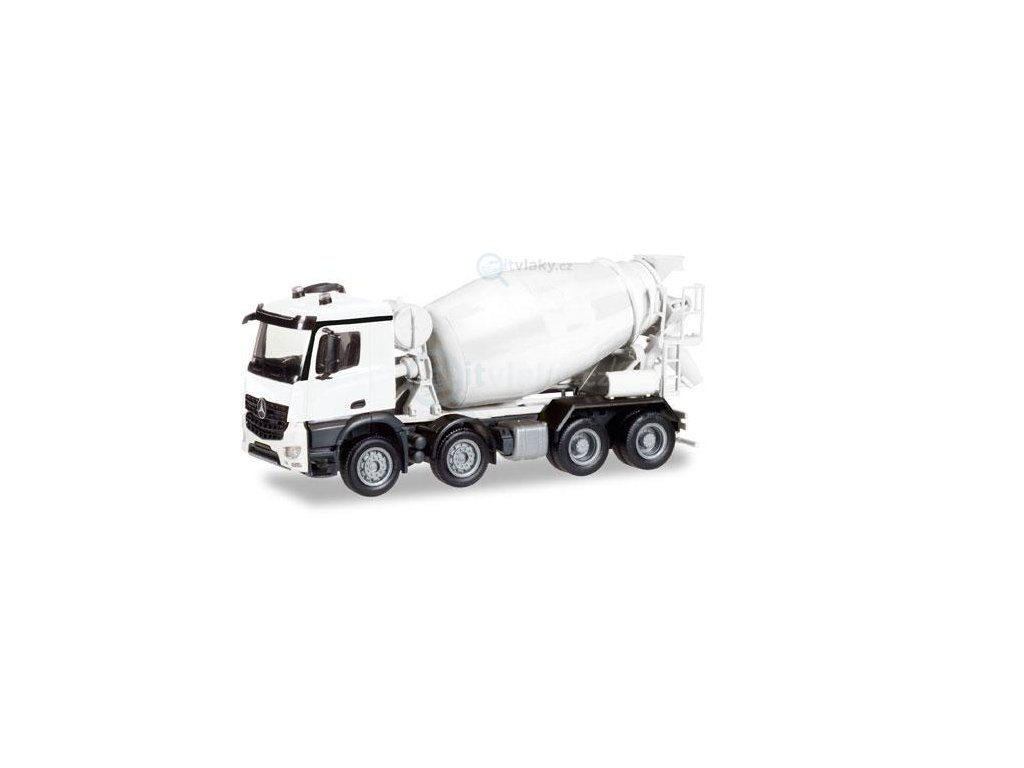 230641 h0 minikit mercedes benz arocs m concrete mixer truck 4 axle herpa 013147