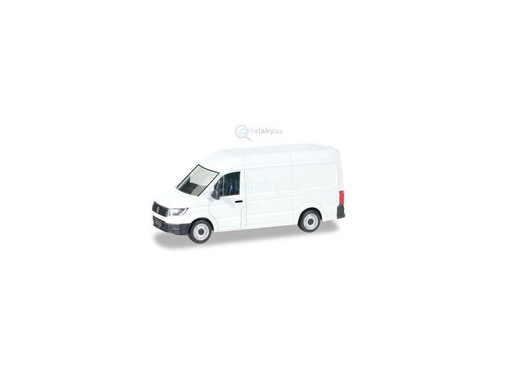 H0 - MiniKit: VW Crafter dodávka, bílá / Herpa 013178