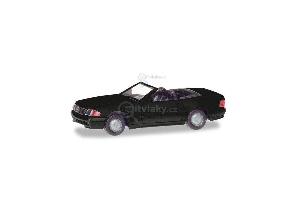 H0 - Mercedes-Benz 500 SL (R129), černý / Herpa 013222