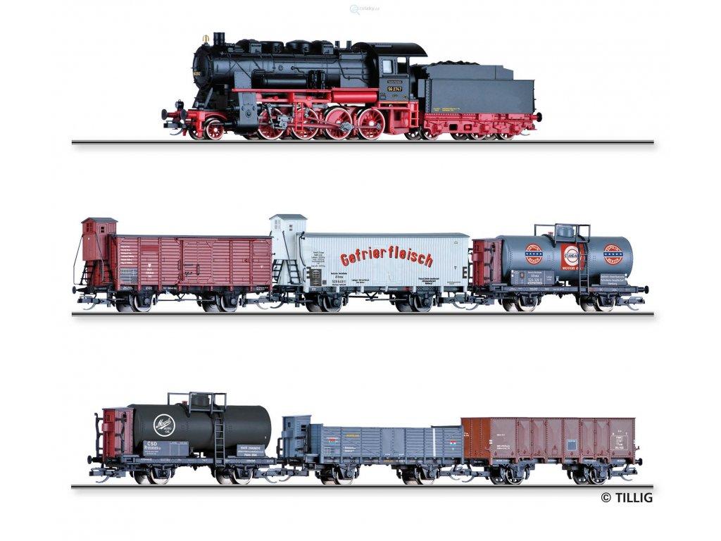 ARCHIV TT - START SET  nákladní vlak s BR 56 + vozy DRG, PKP, ČSD / Tillig 01446 E